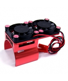 Heatsink + double Fan Red