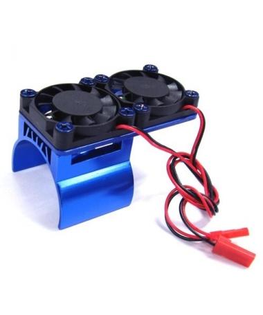 Heatsink + double Fan Blue