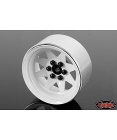 6 Lug Wagon 2.2 Steel Stamped Beadlock Wheels (White)