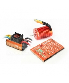 Leopard 1/10 Scale Brushless System 60A ESC V2+9T motor +program card