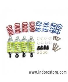 Yeah Racing alloy 55mm damper set (silver)